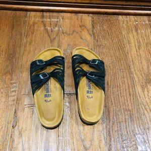 Birkenstock Granada Softbed Oiled Leather Sandals